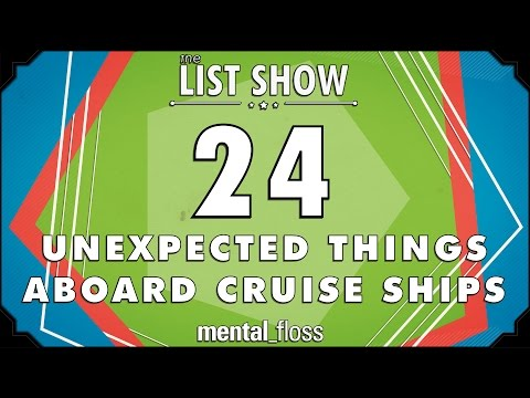 24 Unexpected Things Aboard Cruise Ships - mental_floss on YouTube - List Show (316)