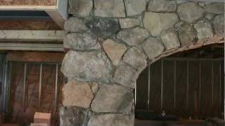 Finished Basement Stone Veneer Arch By Tatcor.com Building / Remodeling West Chester, Pa
