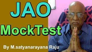 JAO Mock Test In Online | Mudunuri Satyanarayana Raju