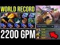 WORLD RECORD!!! 2200 GPM 9Min Radiance [Alchemist] How to Jungle Radiant Side 15Items = 30Min Dota2