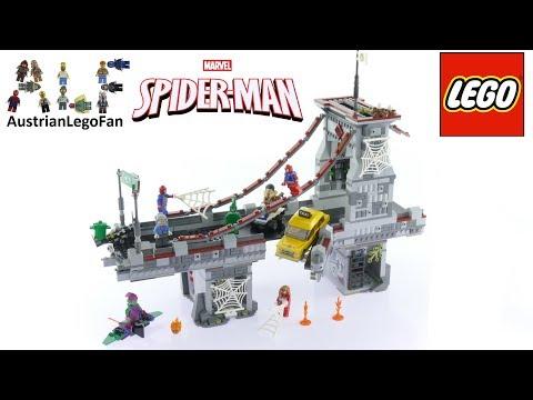 Lego Super Heroes 76057 Spider-Man Web Warriors Ultimate Bridge Battle - Lego Speed Build Review