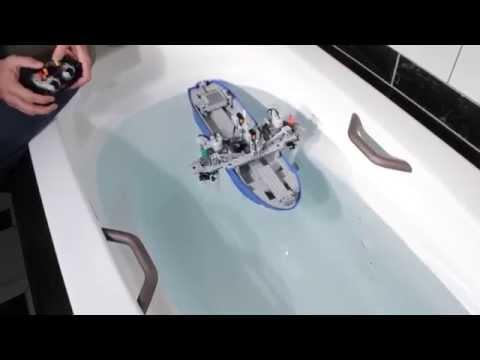 Technical LEGO: Valerie, a Voith Schneider propeller (VSP) test boat