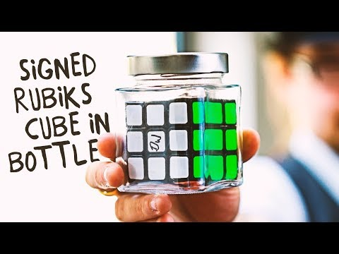 Put a signed Rubiks Cube in a bottle - Kieron Johnson's ISOLATED
