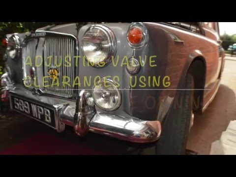 Classic Car adjust valve clearances using the rule of nine 9 tappets