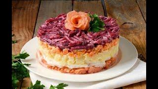 Кулинария-Салат семга на шубке