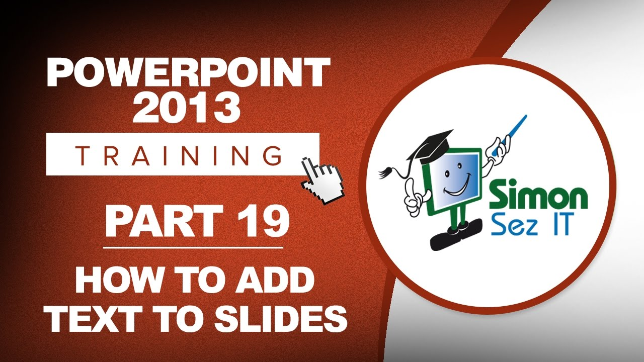 powerpoint how to add text