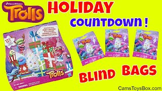 Trolls Holiday Blind Bags Countdown Dreamworks Surprise Toys Opening Series 6 Advent