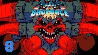 Прохождение Broforce (coop) #8 - Мегасатана! (ФИНАЛ)