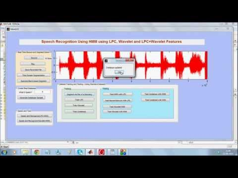 Real time Speech Recognition Matlab
