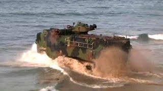 Amphibious Assault Vehicle AAV-7A1: Training on the Beach | AiirSource