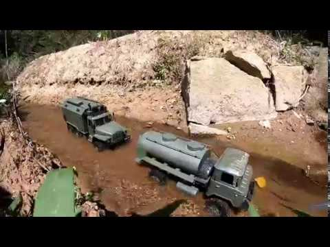 WPL B36 Ural 4320 & Gaz with fuel tank, official video! - YouTube