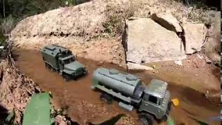 WPL B36 Ural 4320 & Gaz with fuel tank, official video!