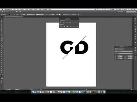 Split Text Effect on AI ( Adobe Illustrator).