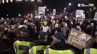 Протестный марш в Лондоне