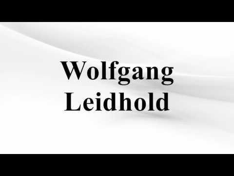 Wolfgang Leidhold