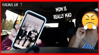 MY MOM IS GOING TO TAKE MY NEW PHONE AWAY , SHE IS REALLY MAD BECAUSE OF THIS .... | VLOGMAS DAY 7
