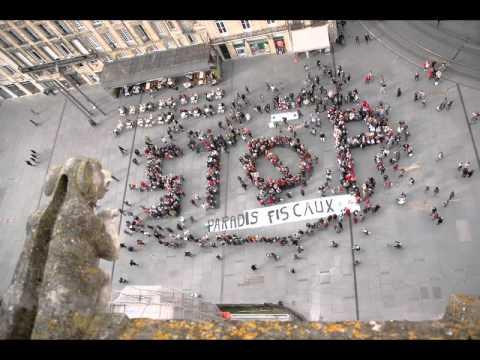 Stop au paradis fiscaux, le flashmob du CCFD-Terre solidaire