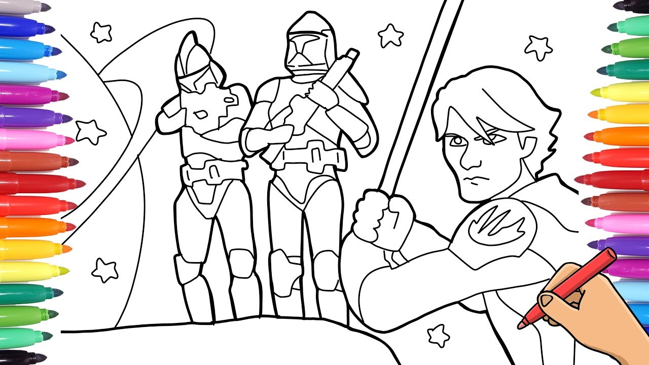 STAR WARS COLORING PAGES - DRAWING AND COLORING STORMTROOPERS - STAR WARS  MANDALORIAN