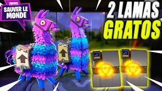 2 Free lamas will they Broks in Gold? Openning Fortnite Save the World Pack