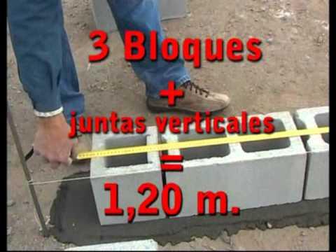 Bloques de hormig n replanteo y modulaci n aabh youtube for Jardineras con bloques de hormigon
