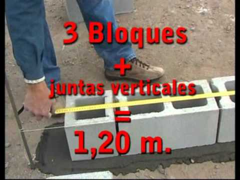 Bloques De Hormigon Replanteo Y Modulacion Aabh Youtube - Colocar-bloques-de-hormigon