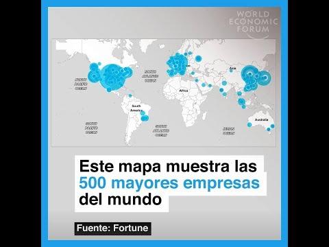 Este mapa muestra los 500 mayores empresas del mundo