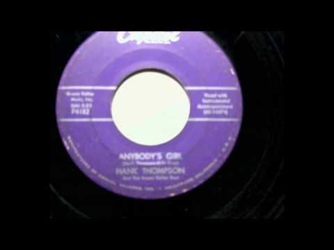 Hank Thompson and The Brazos Valley Boys -  Anybody's Girl - 45 rpm audio