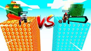 MUNDO de LUCKY BLOCKS de LAVA vs AGUA 🔥🌊 DESAFÍO DE LUCKY BLOCKS en MINECRAFT