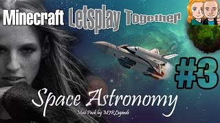 Minecraft Space Astronomy #3 Letsplay Together * Splitscreen * Werkzeug, Zombies & 1. Kornfeld [DE]