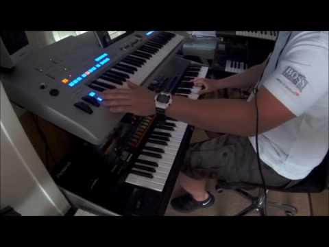 Manowar ( The Crown and the Ring ) Keyboard Yamaha Tyros 4 Roland Jupiter 80