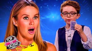 TOP 10 GREATEST Kid Magicians On Got Talent!