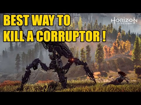 BEST WAY TO KILL A CORRUPTOR in Horizon Zero Dawn - Quick and Easy Guide!