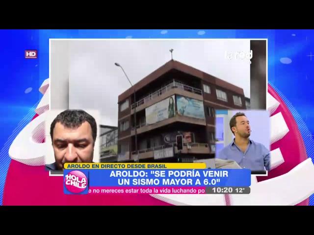 Aroldo Maciel en Hola Chile: Advierte dos fenómenos sísmicos pendientes en el país