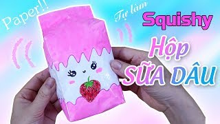 Squishy giấy 3D | 3D Milk Paper Squishy | Liam Channel