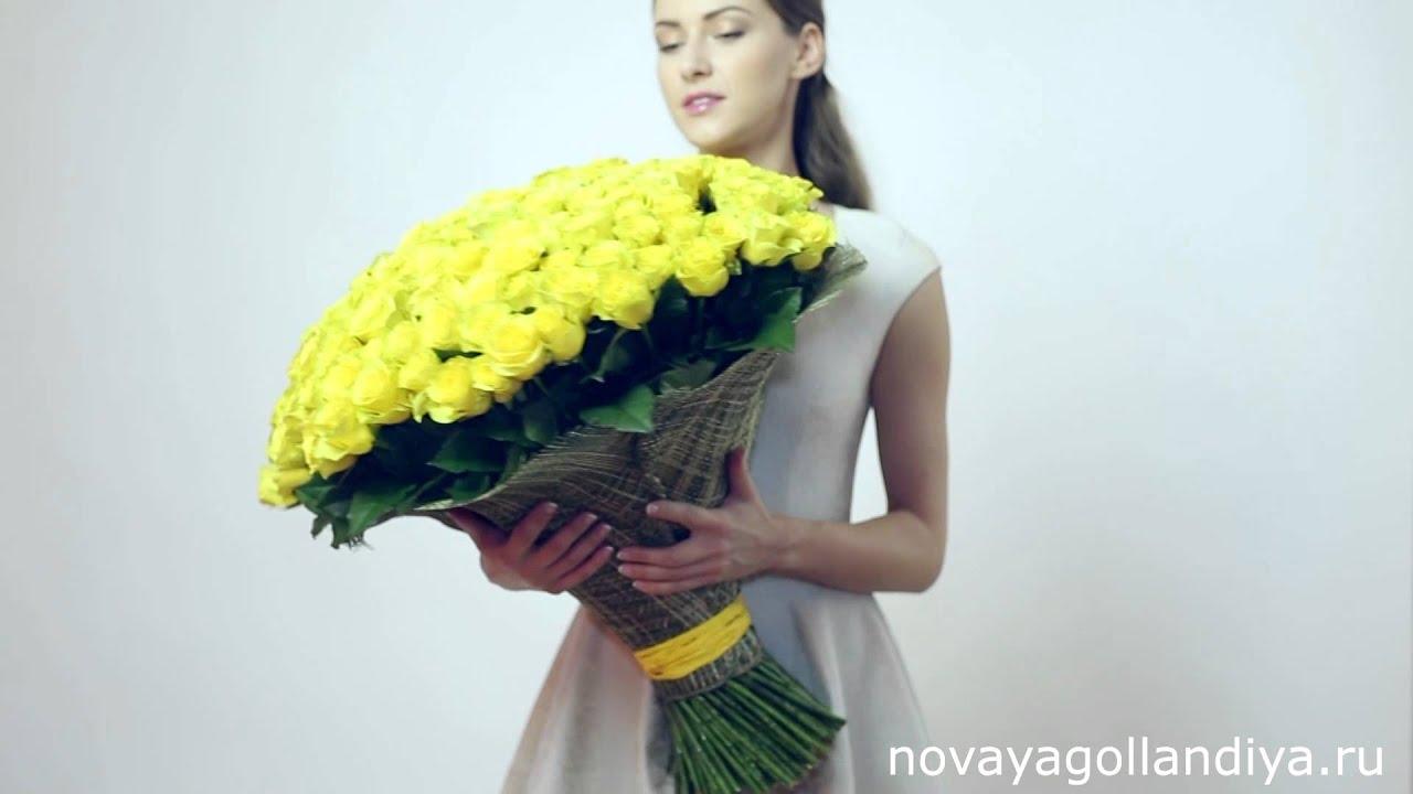 Цветы в шляпной коробке flowersmoscow24.ru - YouTube