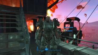 Fallout 4 Vertibird Crashes into Prydwen