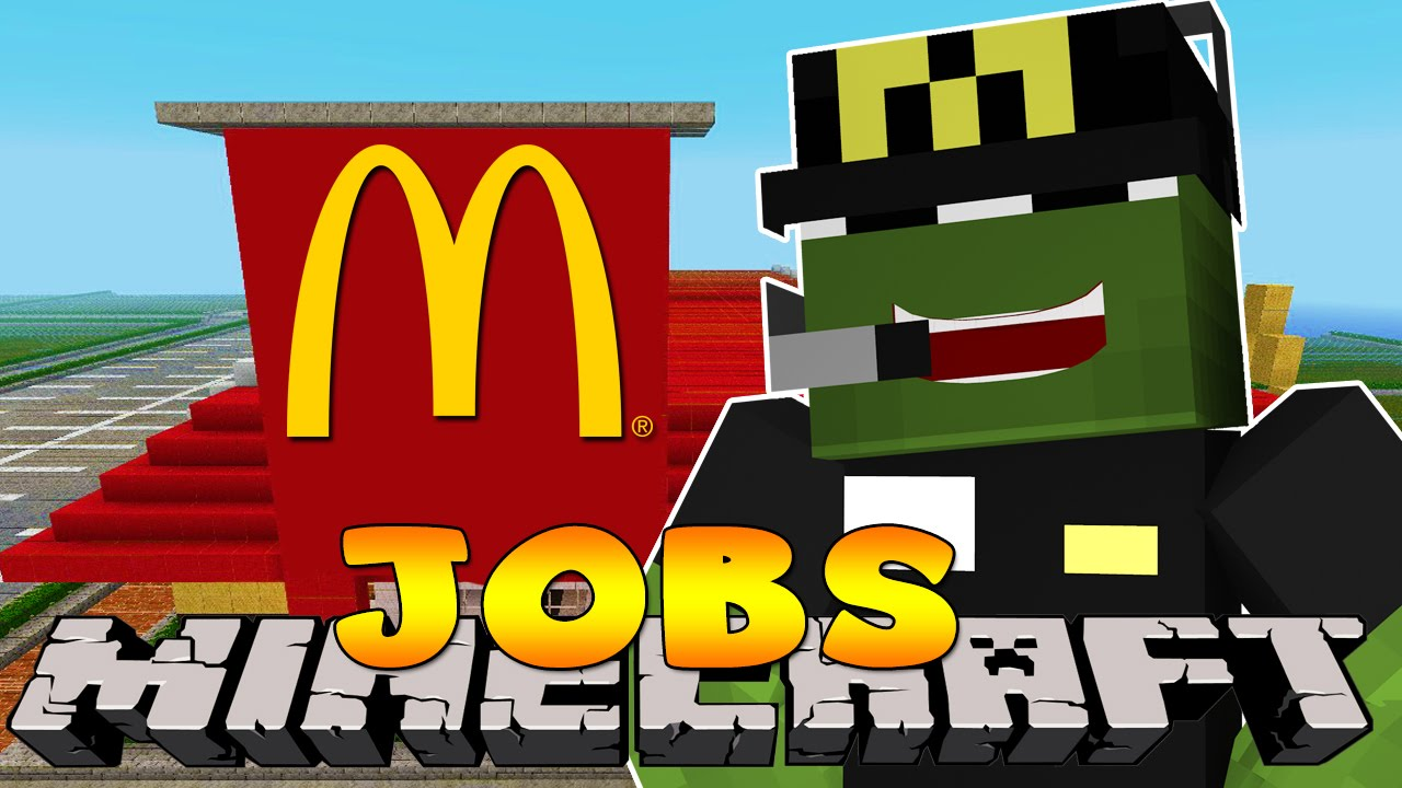 minecraft jobs first day in mcdonalds custom roleplay