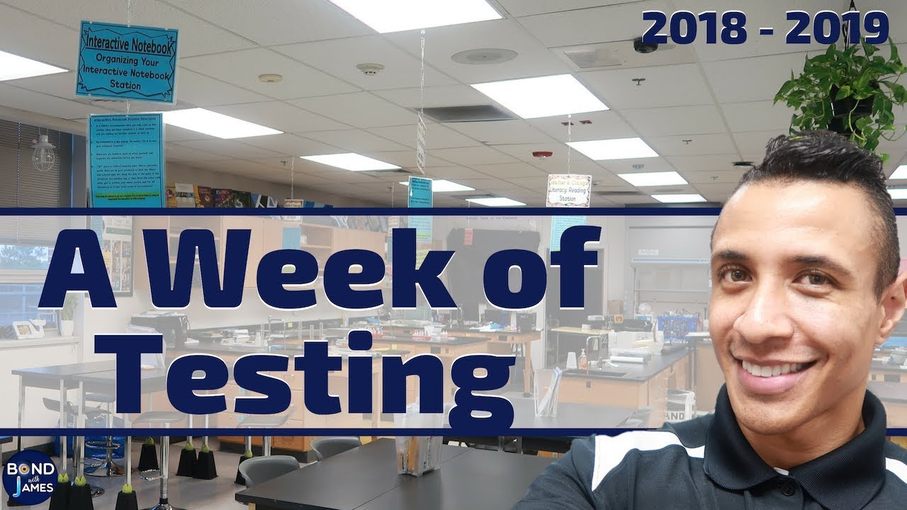 A Week in the Life of a Teacher   A Week of Testing
