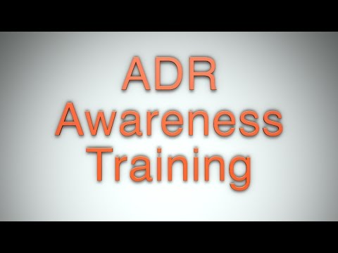 ADR Awareness Training Online