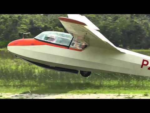 Fancy and ground effect landings in a glider
