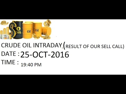 CRUDE CALL PERFORMANCE FOR 25 OCT 2016 AROUND 45 POINTS PROFIT PER LOT IN ONE TRADE