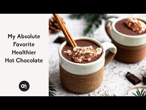 My Absolute Favorite Healthier Hot Chocolate