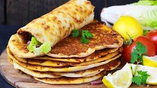Bestes Lahmacun Rezept und Zwiebelsalat - Türkische Pizza