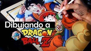 Dibujando a  - Goku & Gohan / DBZ - Speed Drawing - Mattos Artwork Resimi