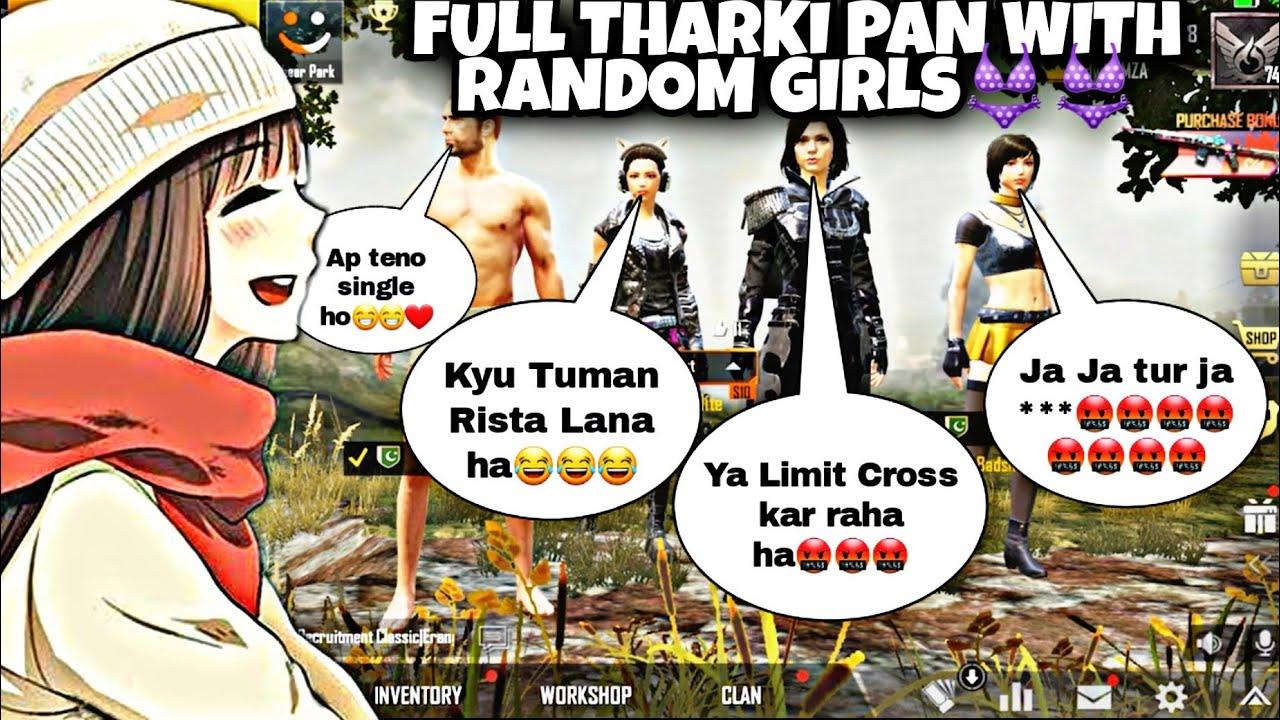 Joining random squad of girls👩👧👧 like a bot part 5| FULL THARKK PAN  👩❤️💋👩| DW HAMZA