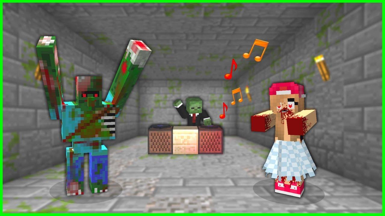 ZOMBİLERLE PARTİ ZAMANI (Dans Eden Zombiler) 😱 - Minecraft