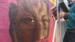 Scotty Brave Paints Marcus Rashford Glitch Street art (1min 30seconds version)