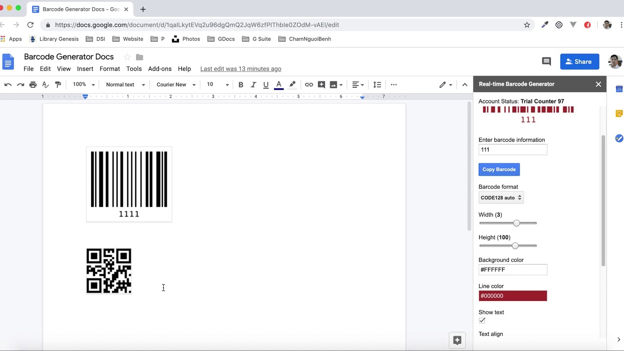 Qr Code Barcode Generator G Suite Marketplace