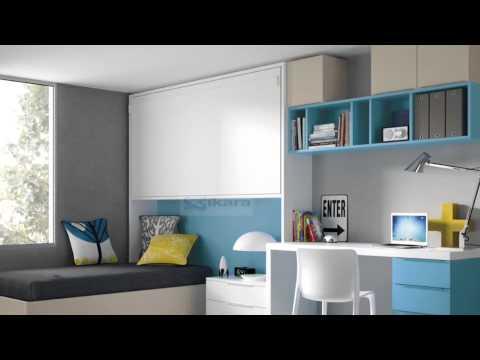 Dormitorios con dos camas habitaciones compartidas youtube - Dos camas en una ...