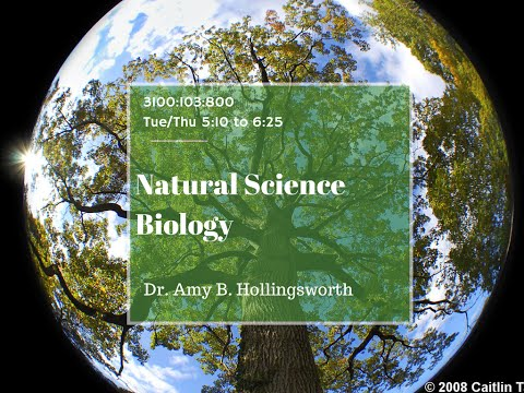 Day 1 Natural Science Biology Lecture Chapter 1 and Intro to Course